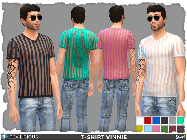 T-Shirt Vinnie (12 Colors) by Devilicious