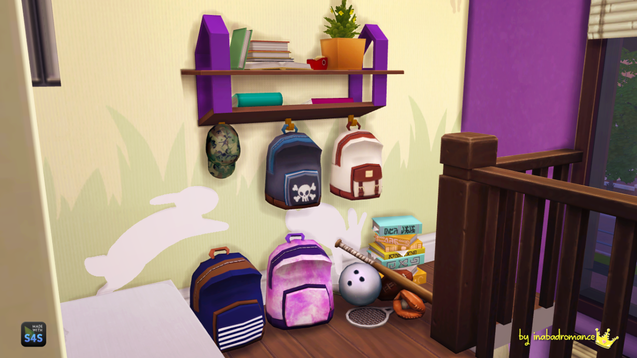 Matching Backpacks & Shelfs by inabadromance