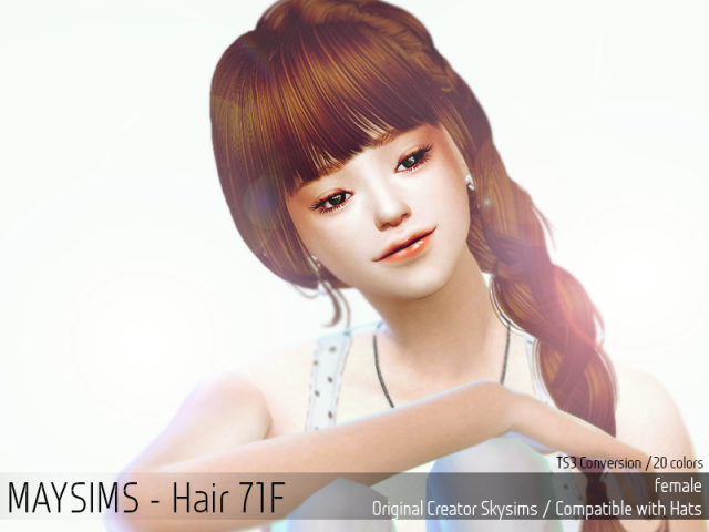 Sims 4 Request Hair - 71F от Maysims
