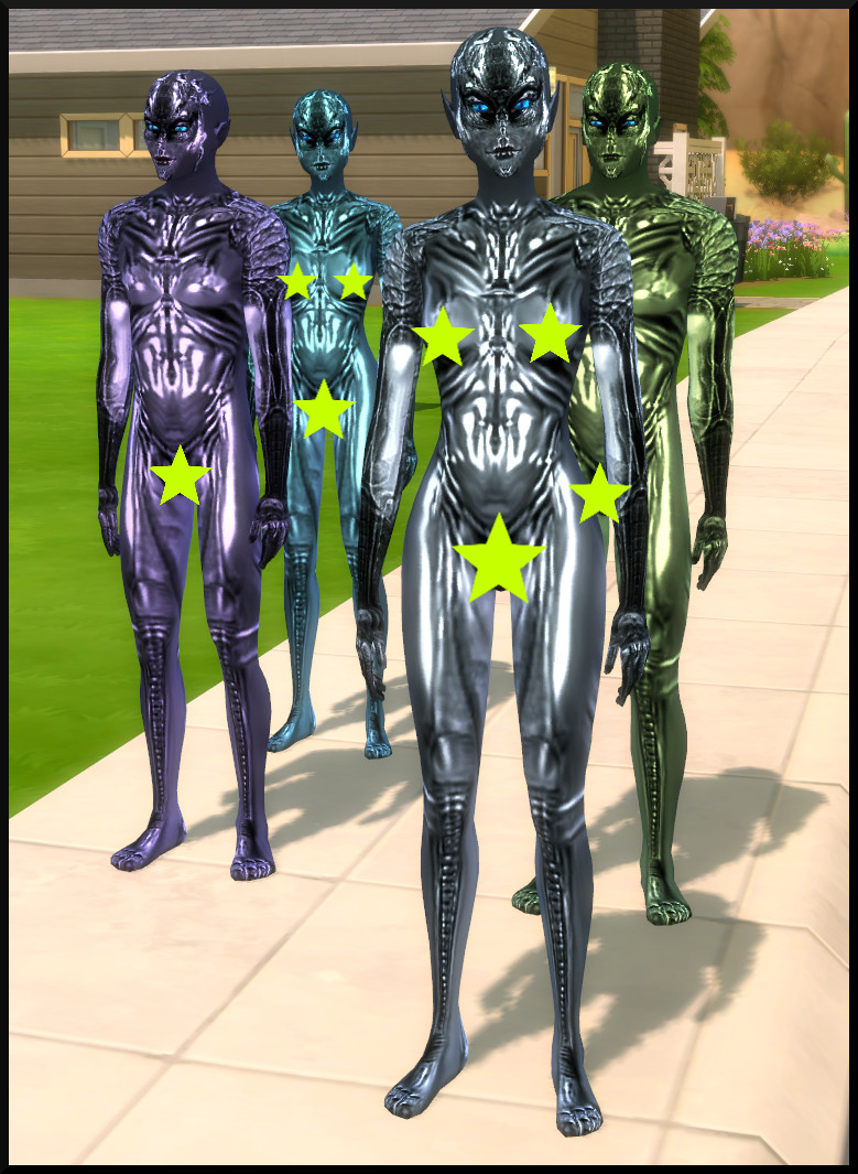 New Skin textures for Aliens (inspired by the movie SPECIES) by Tanja1986