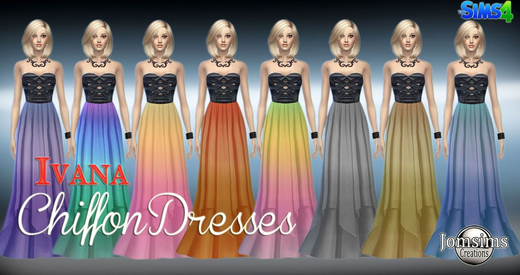 Ivana chiffon dress by Jomsims
