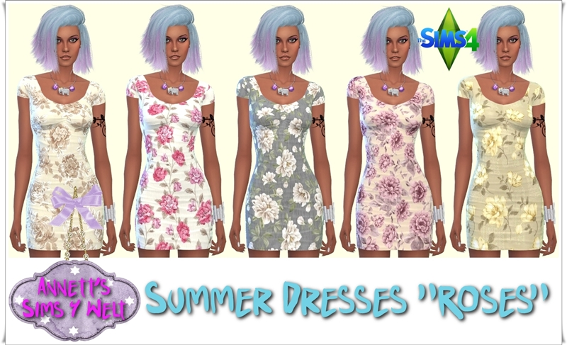"Summer Dresses ""Roses"" by Annett85"
