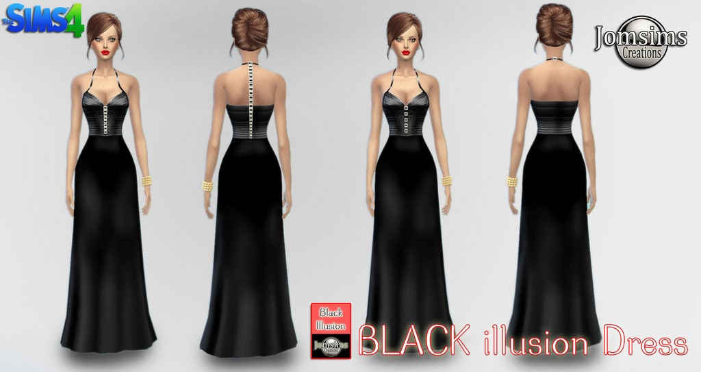 Black illusion dress by Jomsims
