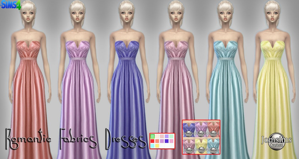 Romantic fabrics dresses by Jomsims