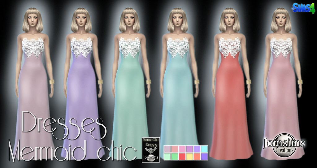 Mermaid chic dresses by Jomsims