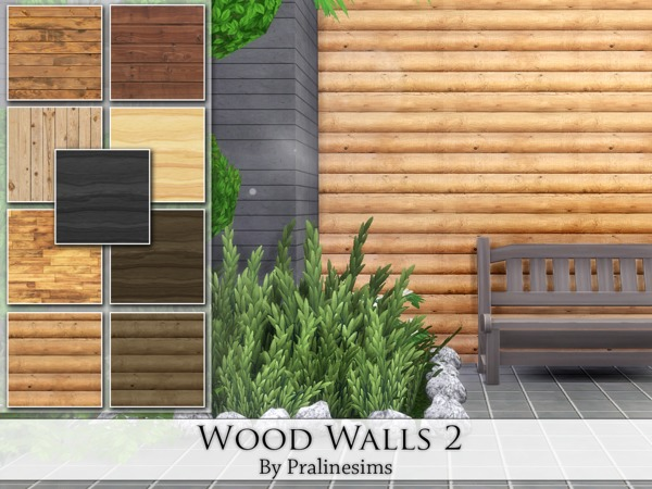 Wood Walls 2 by Pralinesims
