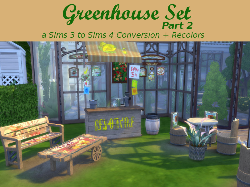 Greenhouse Set - Part 2 by Leander Belgraves