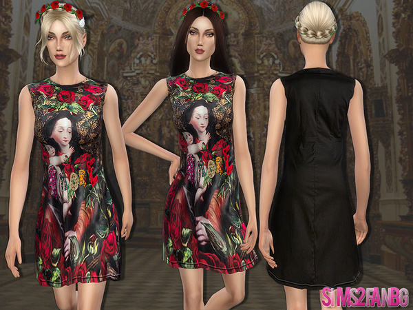 49 - Designer dress by sims2fanbg