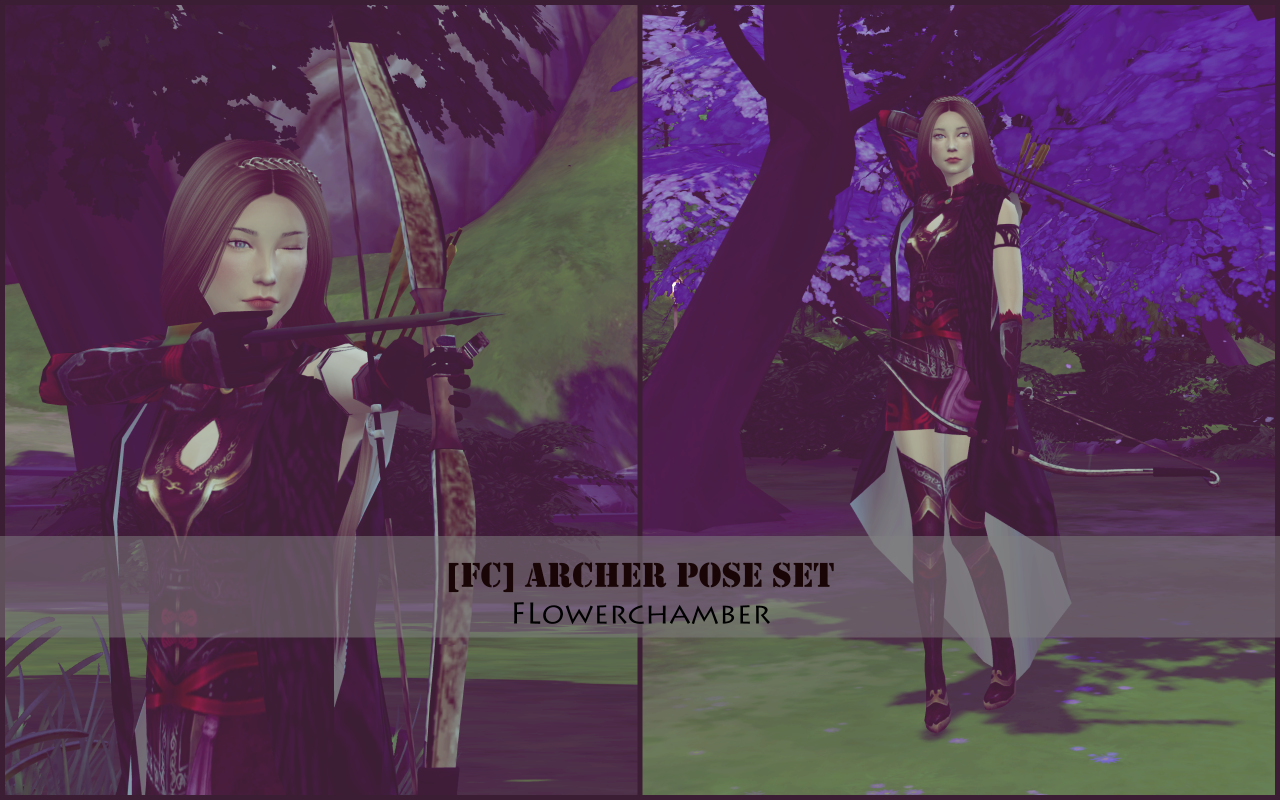 Archer Pose Set by flower chamber