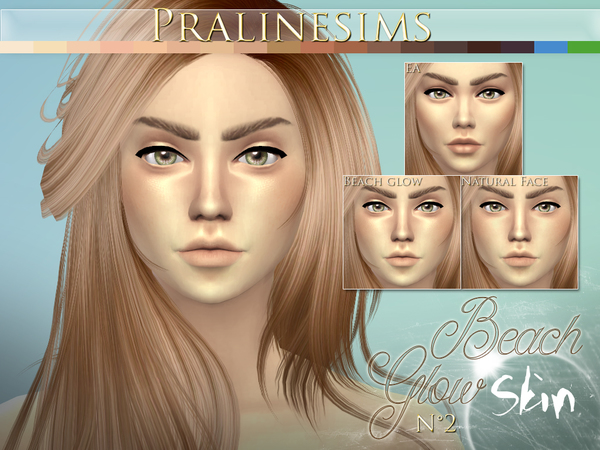 Beach Glow Skin by Pralinesims