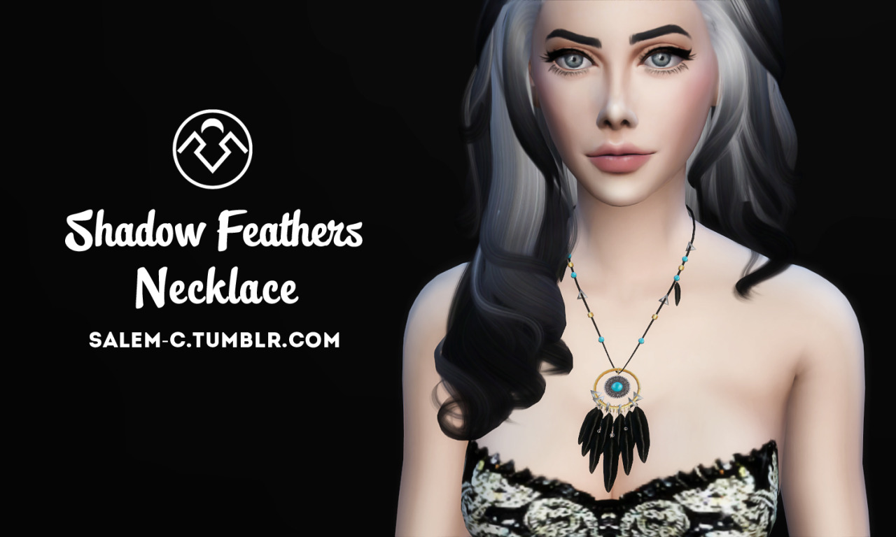 Shadow Feathers Necklace by salem2342