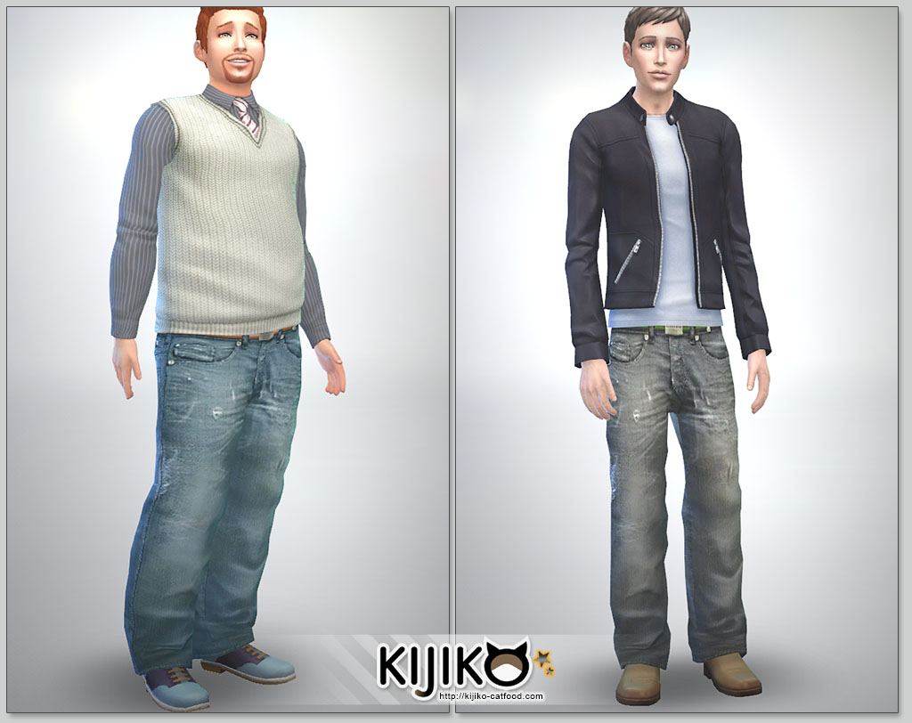 Relaxed Jeans for Teen - Elder Males by Kijiko