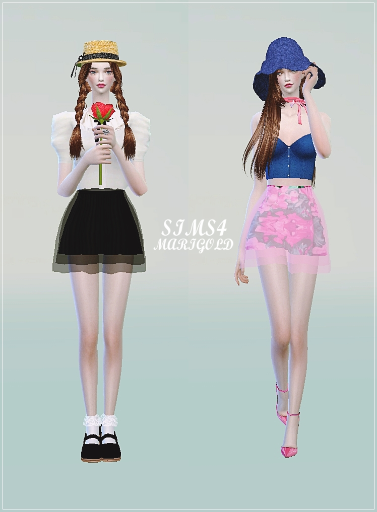 Chiffon mini skirts by Marigold
