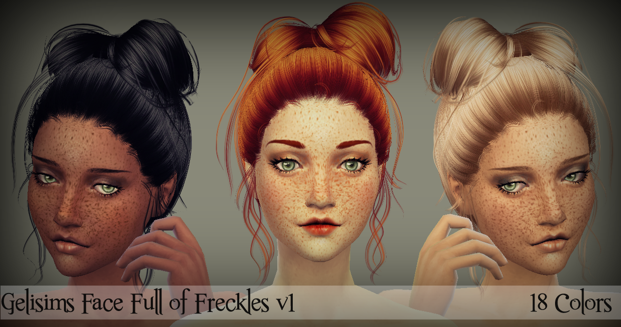 Face Full of Freckles by GeliSims