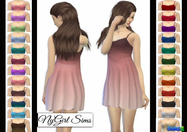 Lace Overlay Babydoll Dress by NyGirl