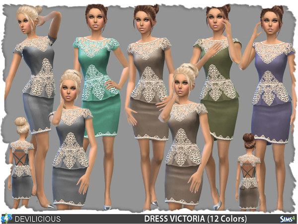 Victoria Peplum Dress (12 Colors) by Devilicious