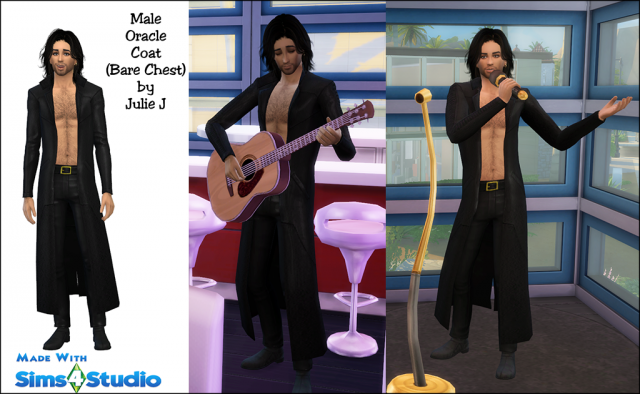 Male Oracle Coat Revisited - Now Bare Chested by JulieJ