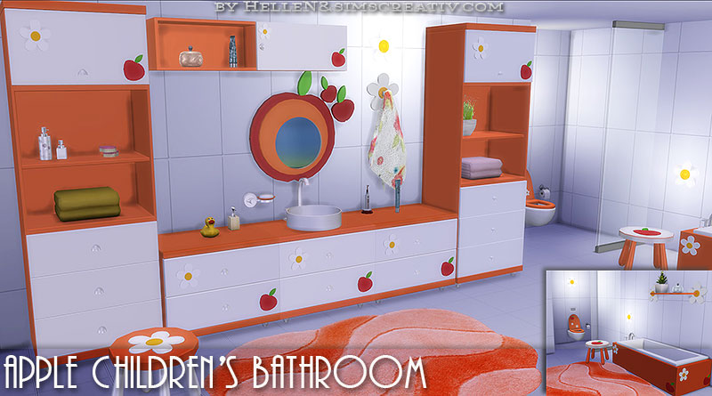Apple Childrens bathroom by HelleN