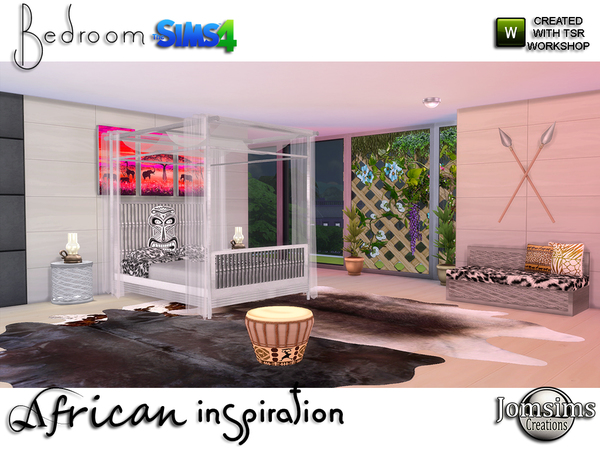 African inspiration bedroom by jomsims