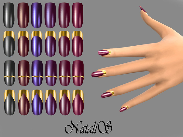 NataliS_Vamp gold collection nails FT-FE