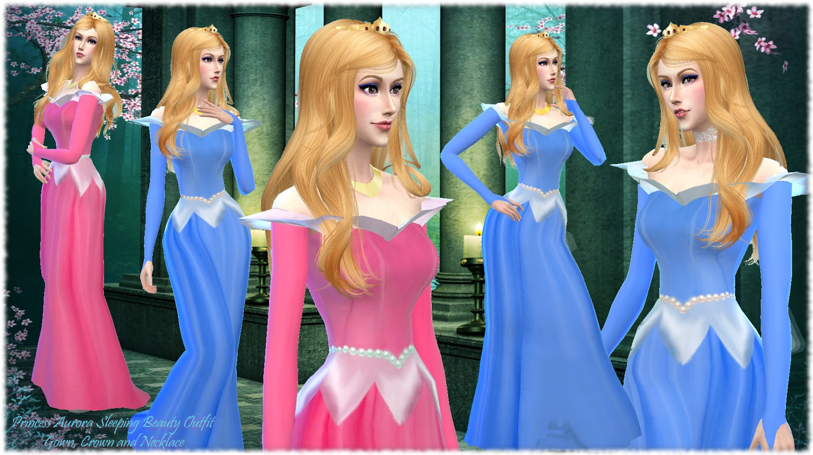 Sleeping Beauty Inspired Gown and Crown by Alin22