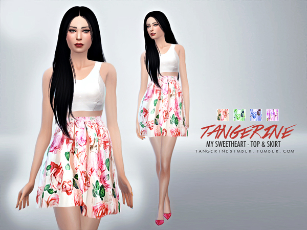 My Sweetheart - Top & Skirt by tangerinesimblr