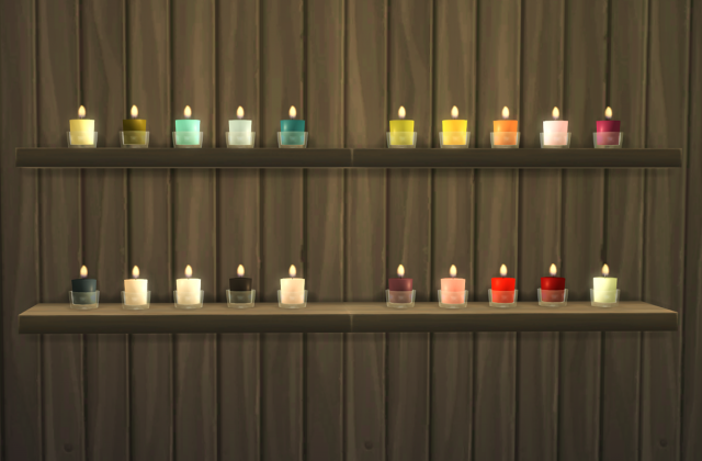 Glass Candles by OmorfiMera