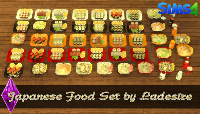 Japanese Food Set by Ladesire
