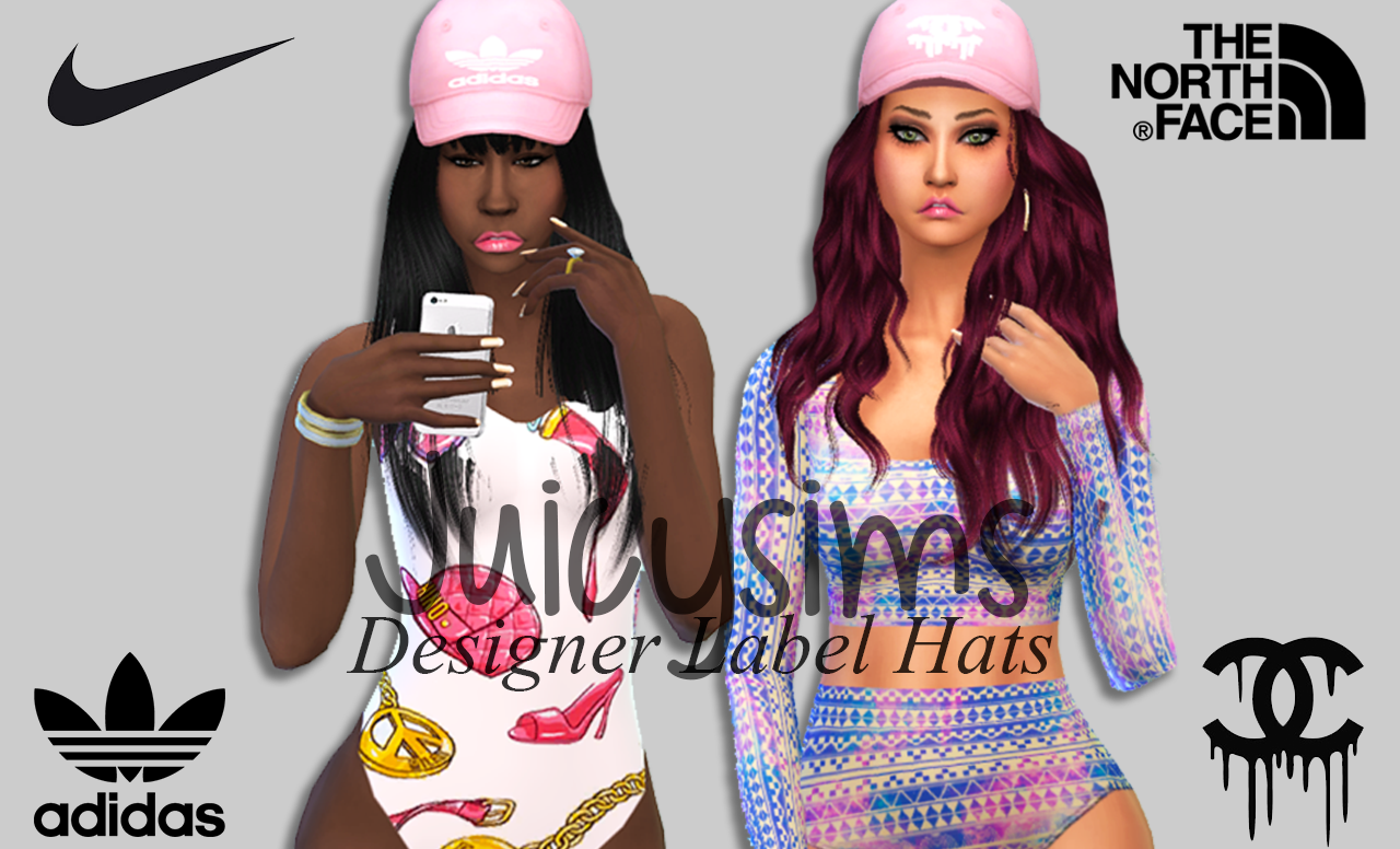 TS4 Designer Label Hats by juicysims