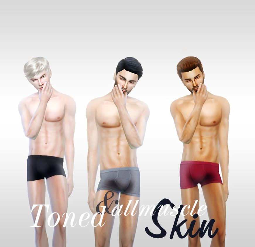 Toned and all muscle Skin by charactersassims