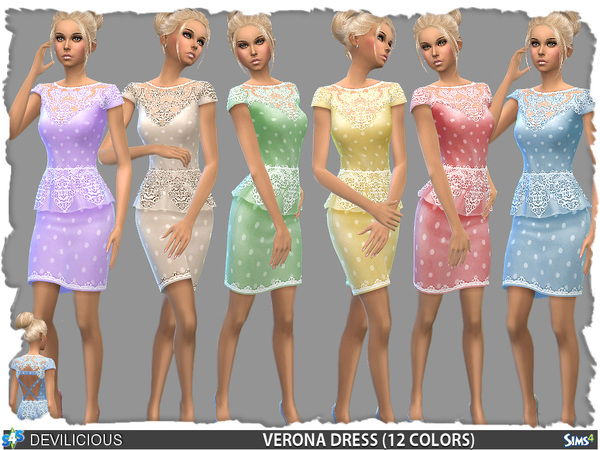 Verona Peplum Dress (12 Colors) by Devilicious