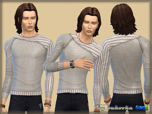 Sweater Asymmetrical Sleeve by bukovka