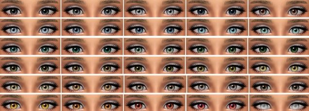 Дефолтные глаза TS2 Charlotte Replacement Eyes by NessaSims
