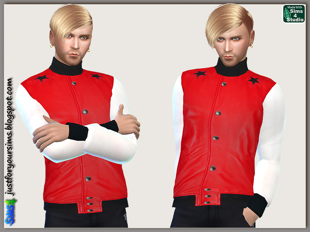 Red Leather Jacket by Just For Your Sims