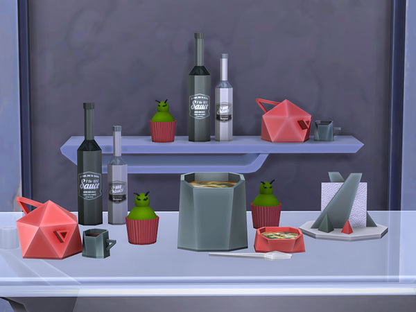Facet Geometric Kitchen set by soloriya