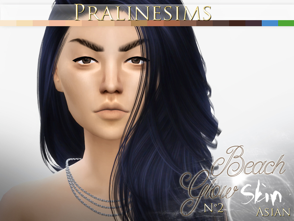 Beach Glow Skin ASIAN by Pralinesims