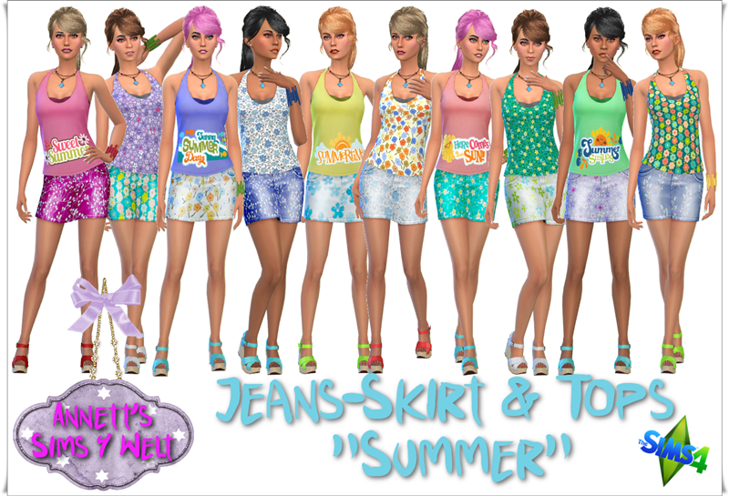 "Jeans Skirts & Tops ""Summer"" by Annett85"