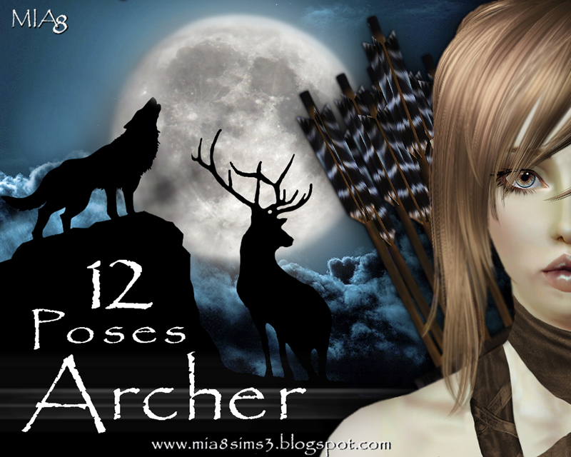 12 Poses Archer by Mia8