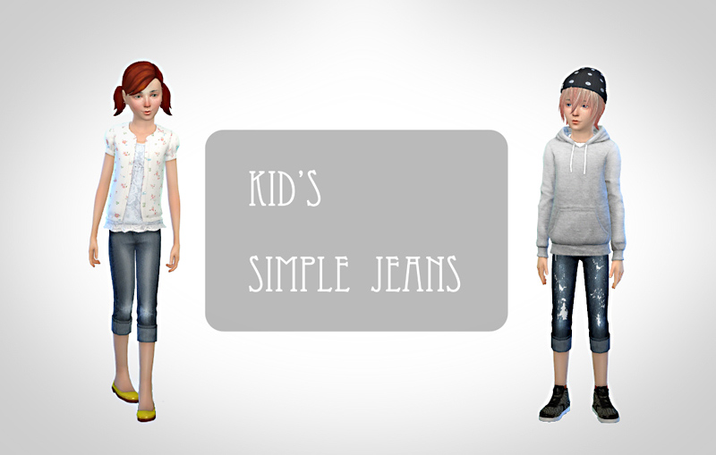 Simple Jeans for Boys and Girls by Chiissims