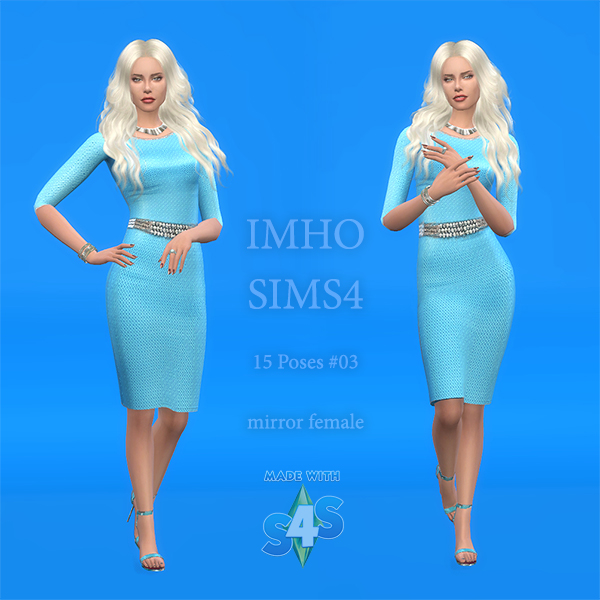 15 Poses #03 TS4 Female by IMHO