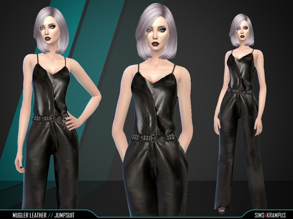 Mugler Leather Jumpsuit by SIms4Krampus
