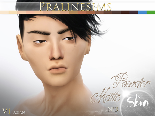 Powder Matte Skin (4 Versions) by Pralinesims