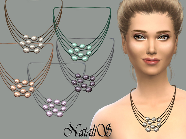 NataliS_Multilayer freshwater pearl necklace FT-FE
