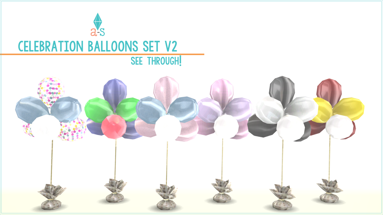 Celebration Balloons Set v2 by Ajoya