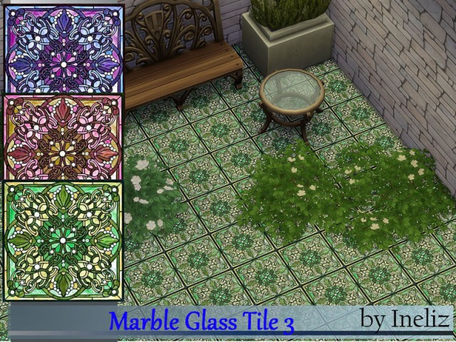 Marble Glass Tile 3 by Ineliz