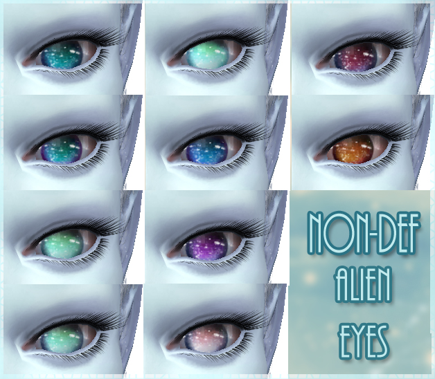 Nebula - 10 Non-Default Alien Eyes (Also for humans!) by kellyhb5