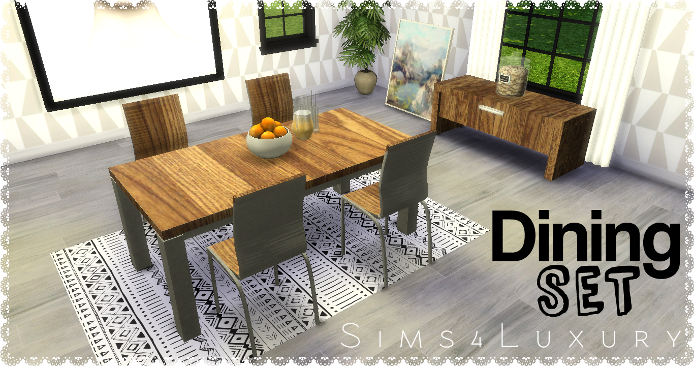 Dining Set by Sims4Luxury