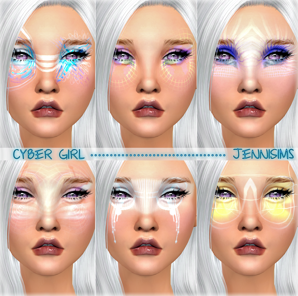Cyber Girl Makeup by JenniSims