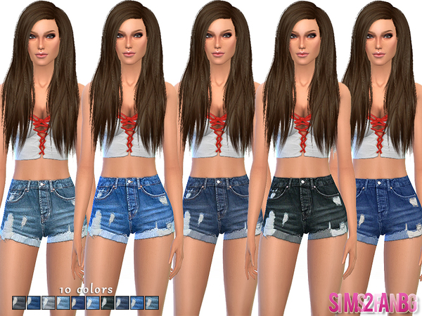 52 - Denim shorts by sims2fanbg