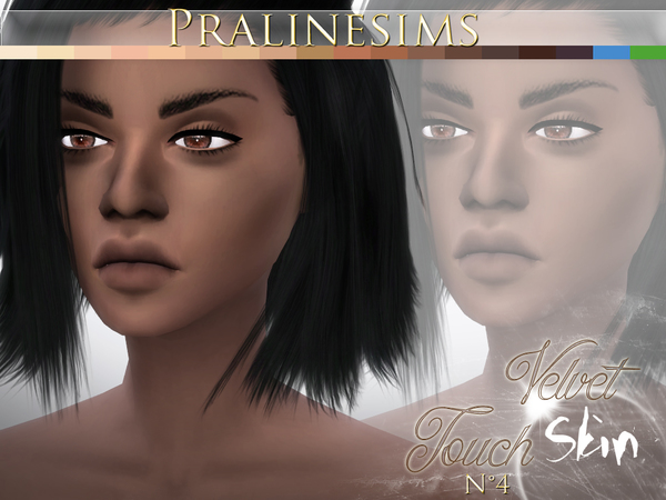 Velvet Touch Skin (2 Versions) by Pralinesims